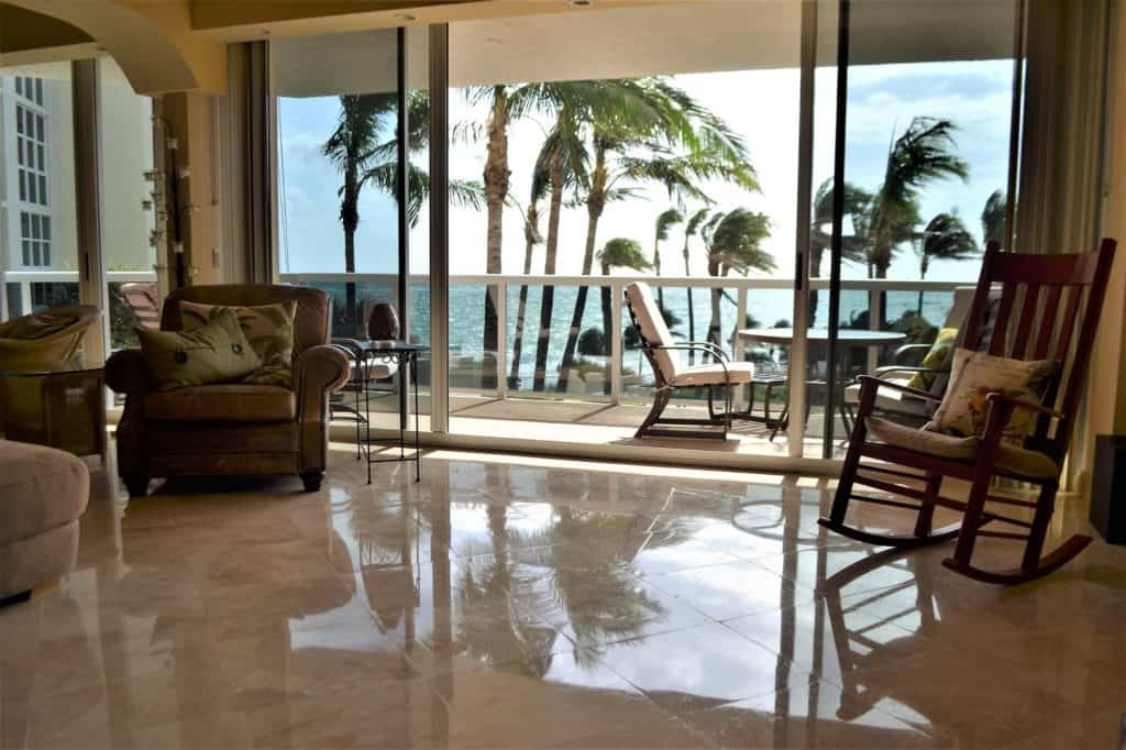 tropical condo luxury living with ocean view and palm trees vacation home